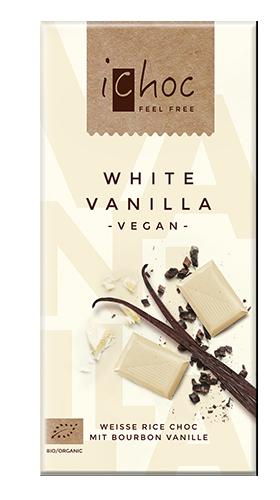 iChocオーガニックライスミルクチョコレート ホワイトバニラ