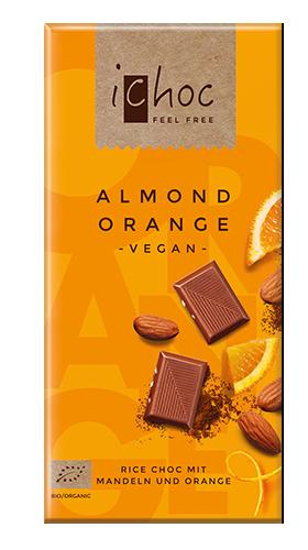 iChocオーガニックライスミルクチョコレート アーモンドオレンジ