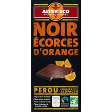 アルテル エコ オーガニック フェアトレード チョコレート ノワール オランジュ