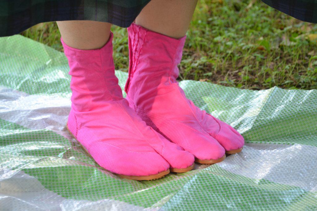 染色した足袋2